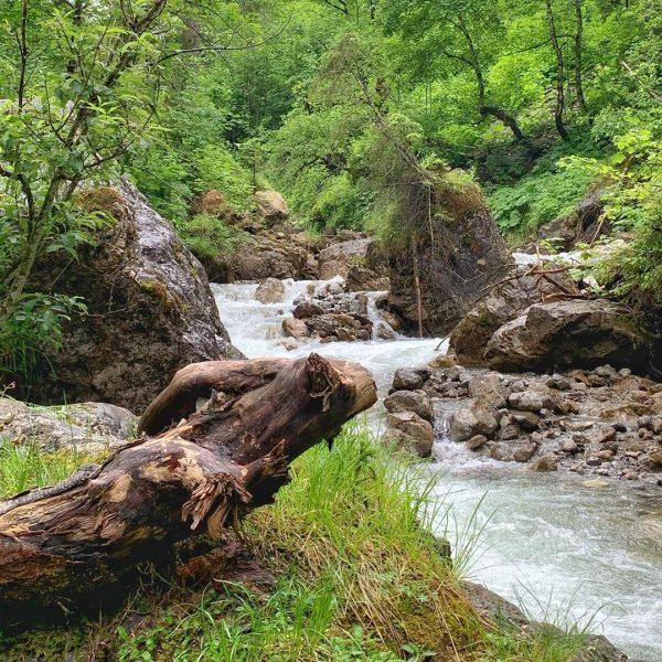 Wilder Gemstelbach #kleinwalsertal #mittelberg #erholungpur #wanderurlaub #wolkenatmosphäre #gemstelbach #gemsteltal Gemsteltal