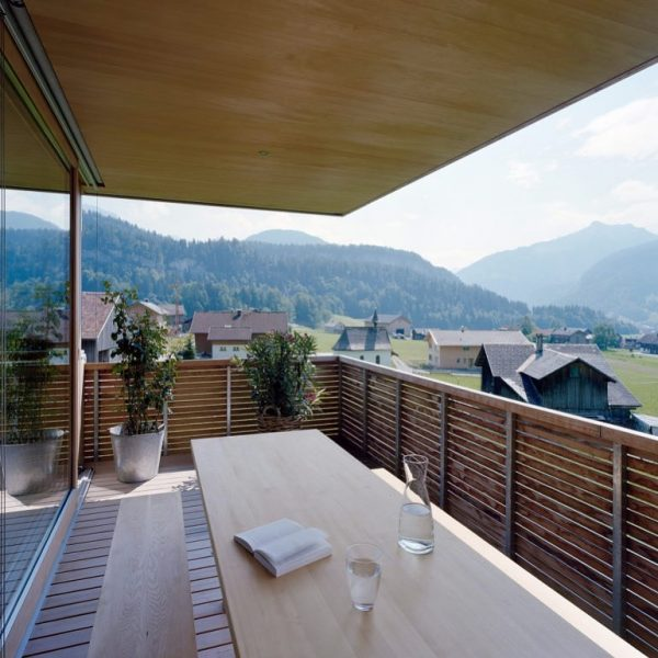 Deeply rooted landscape #bregenzerwald - view from house F in #Bezau. Photo credit: ...