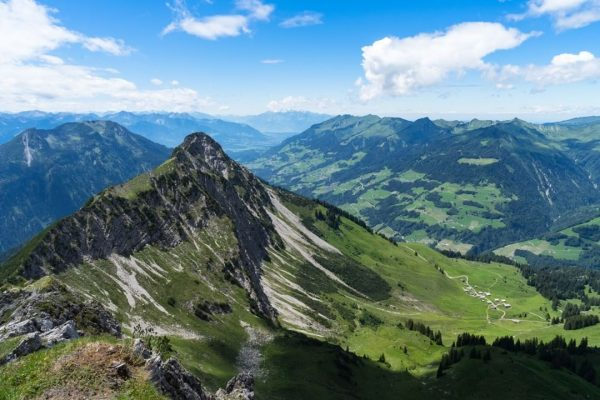 Kellaspitze in Grosswalsertal, as seen from the Breithorn summit. #vorarlberg #visitvorarlberg #großwalsertal #marul ...