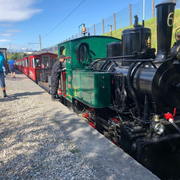"""Letztes Wochenende war unsere erste Fahrt mit der Dampflokomotive """"St. Gallen"""", die in ..."""