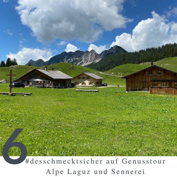 """Heute darf ich euch die sechste Reihe """"desschmecktsicher auf Genusstour"""" in Vorarlberg vorstellen – die Alpe Laguz..."""
