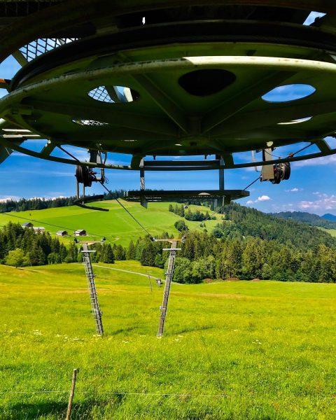 Ein #Skilift im #Bregenzerwald, Skigebiet #Bödele