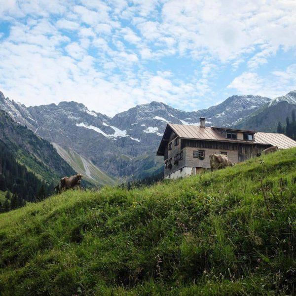 Bodenvorsäß with the Zitterklapfen 📸 by @bregenzerwaldalpen #visitbregenzerwald #venividivorarlberg #auschoppernau #bodenvorsäß #summer #bregenzerwald #vorarlberg #austria #mountains #schoppernau...