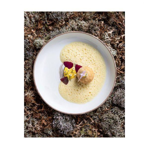 Aktuelle #speisekarte der #genusshortus #safranschaumsuppe #sauerteig #fenchel #pollen • • #fuxbau_restaurant #fuxbaustuben #bergtotable ...