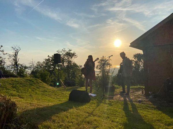 Wunderbares Kultur-Konzept von Bodensee-Vorarlberg 🌅🎼 😊 Heute gab's das Konzert von Stereo Ida ...