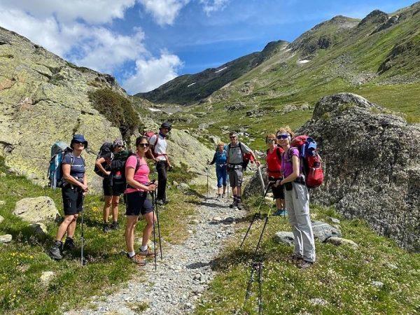 Vom 12. - 16.07.2020 Juli war Wanderführer Max Sturm mit 8 TeilnehmerInnen unterwegs ...