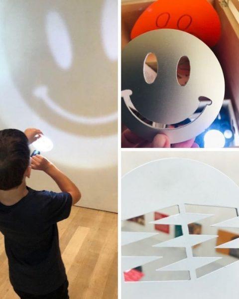 Welche besondere Bedeutung hat der Einsatz von Licht und Schablonen für das @vorarlbergmuseum? ...