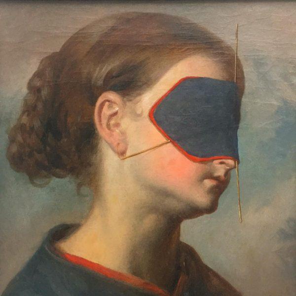 Angela, 2014, oil on canvas, Markus Schinwald - expo_Unprecedented Times @kunsthausbregenz #painting🎨 #contemporaryart #artparis Kunsthaus Bregenz