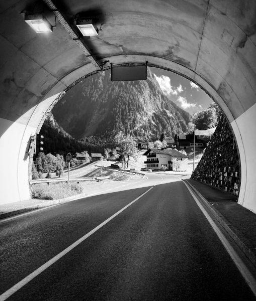 Tunneltjes dwars door de bergen 🤍 #fromwhereiride #austria #bürserberg #cycling #blackandwhite Hotel Sarotla