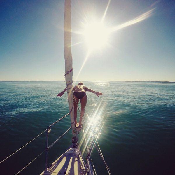 3️⃣ 2️⃣ 1️⃣ splash 💦⛵️ Not as freaky & brave as @anna.veith (who ...