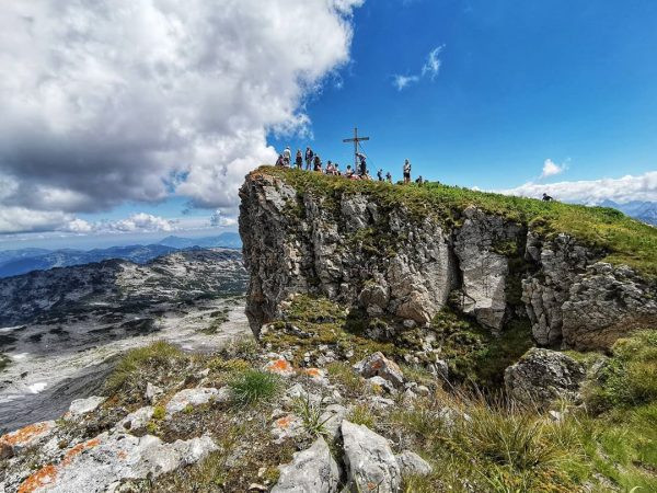 Hoher Ifen Peak (2230 m) and the view that it can offer. . ...