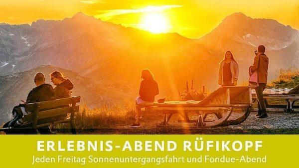 Fondue-Abend und Bergerlebnis-Abend am Rüfikopf 2.362 m - jeden Freitag⬅️ Genießen Sie bei ...