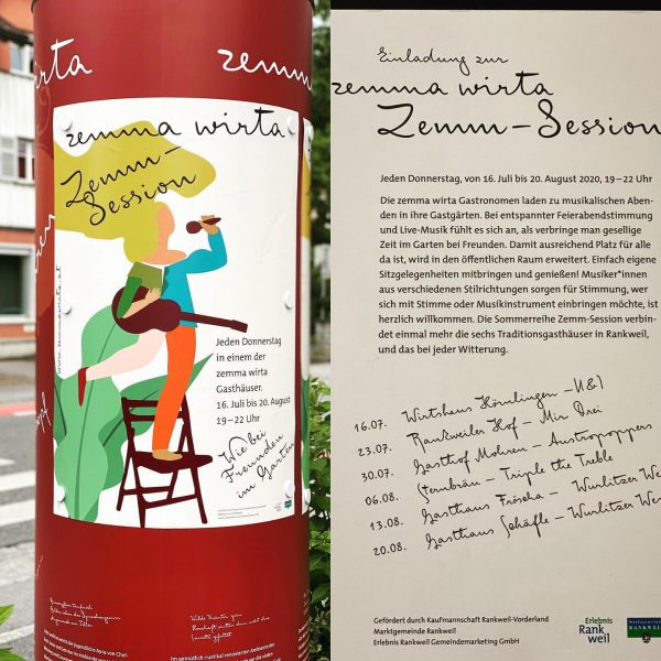 Veranstaltungsreihe der Wirtegemeinschaft ZemmaWirta #zemmawirta #kaufmannschaftrankweilvorderland #gemeinschaft #gastgarten #austropopper #freude #genuss #foodporn Gasthof ...