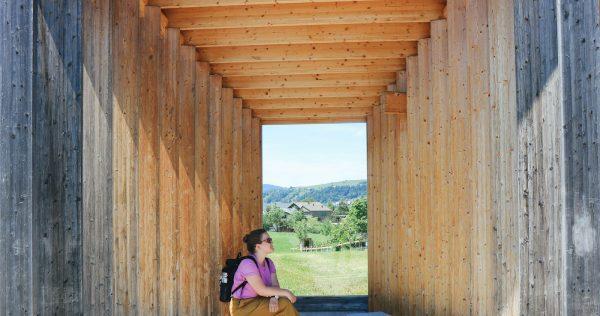 Architektur im Bregenzerwald – Komm, wir warten auf den Bus - Warten ist ...