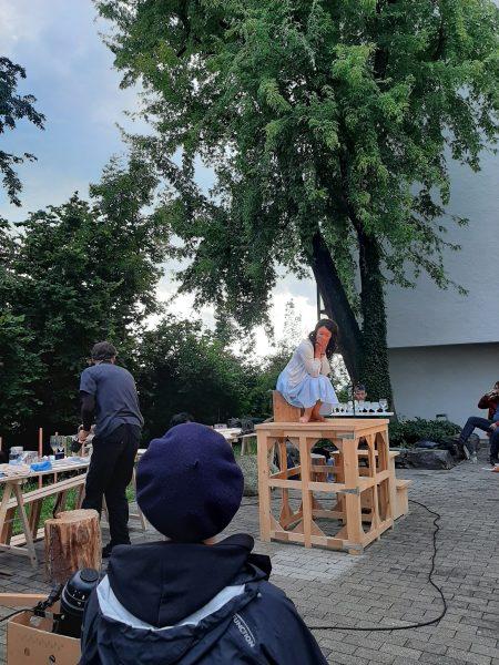 Anja Neumann - 2. #vorarlbergerkulturpicknick mit Theaterensemble Café Fuerte und ihrer Darstellung 'die ...