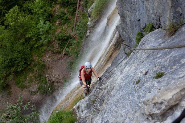 St Anton Klettersteig am Wasserfall - A, B, C, D, E, F, …? ...