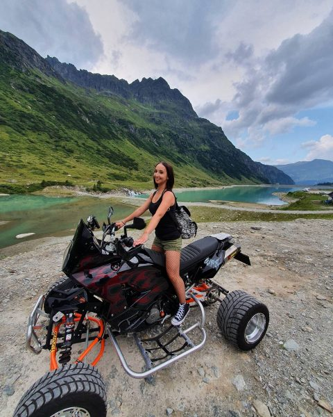 Adventure girl on Tour💕😋 Quad Tour from Feldkirch till Silvretta Hochalpenstraße/Silvretta Stausee 📸 ...