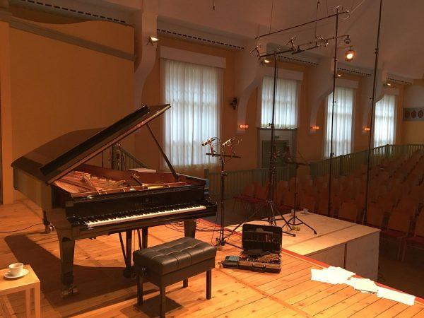 Preparing the Steinway D for audio recordings with pianist Daniel Heide at Markus-Sittikus-Saal ...