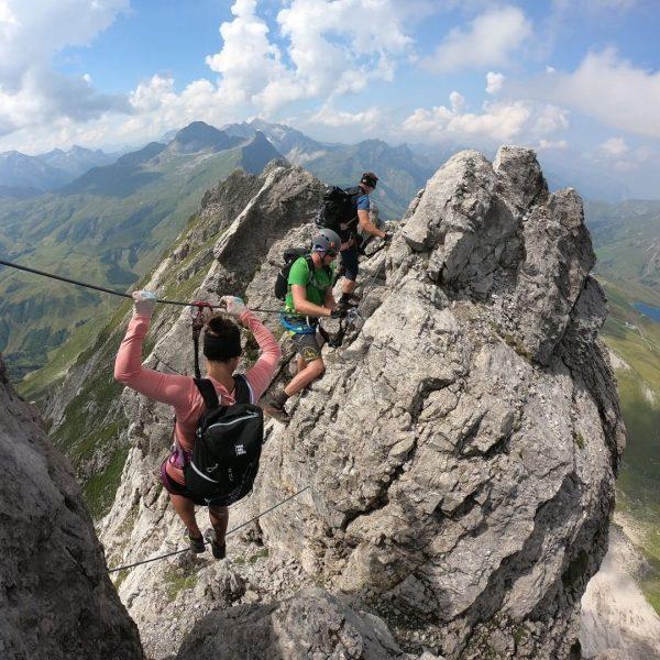 I came. I saw. I climbed. With the @bergpartner_vorarlberg on the Karhorn via ...