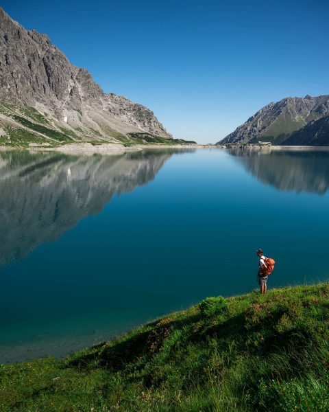 Spend a hot day at the Lünersee, Vorarlberg. It was not good for ...