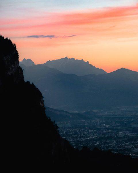 • Some detail shots of the sunset at mount Karren in Dornbirn. I've never seen a sunset...