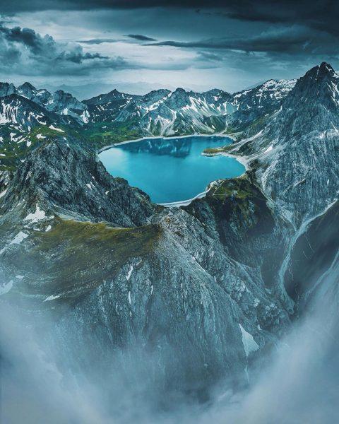 Lünersee in Brandnertal, Vorarlberg ⛰ . The 📸 by @skeye_photo of this reservoir ...