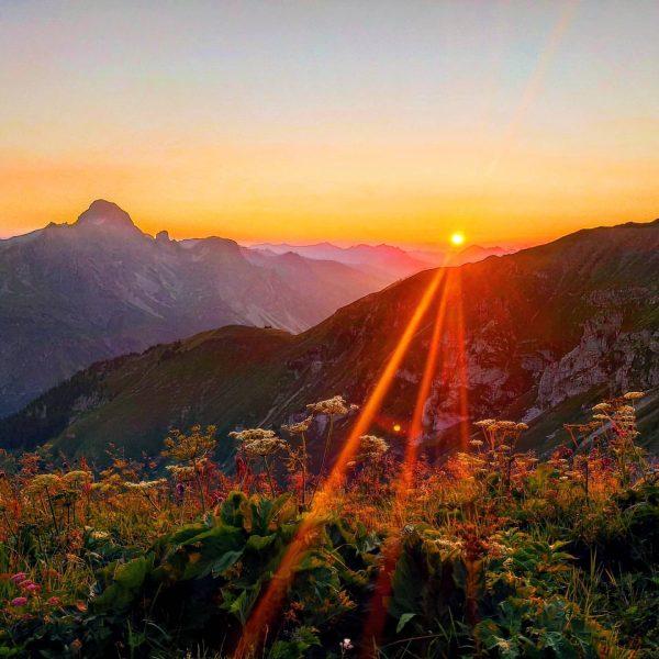 I climb mountains so I can see where the sun sleeps 🧡 . ...