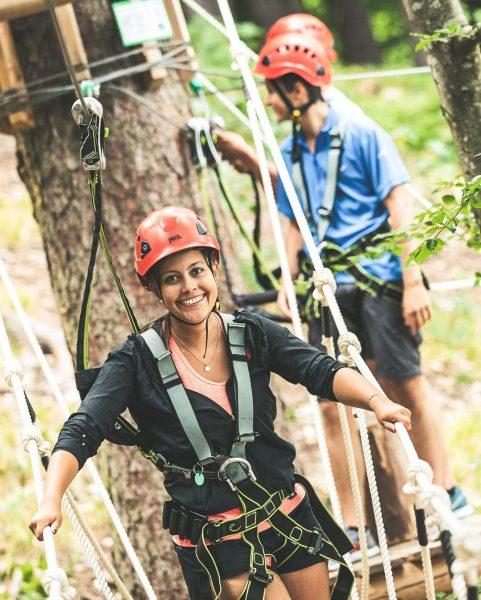 Bist Du bereit für Abenteuer und Spaß? 🚀 #bergemitwow Im Waldseilpark Golm heißt ...