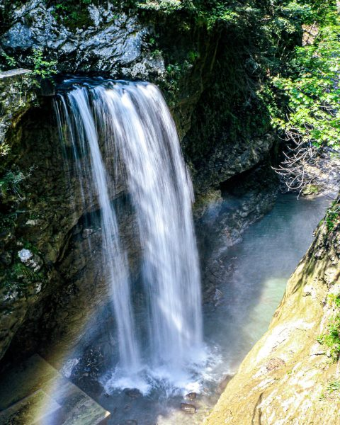 Natures water slide 🌈 ______________________________________________ #vorarlberg #hiking #rappenlochschlucht #sunnyday #vacationmode #summervibes #austria #sports ...