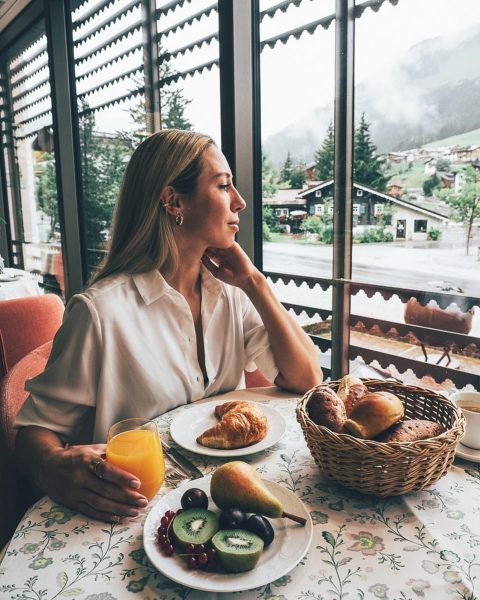 My mornings in #austria are like this - gloomy weather, mountain views from ...