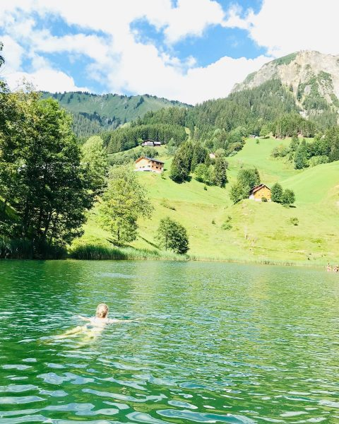 Sommertage am Bergsee... Der Ausblick beim Baden im Seewaldsee ist grandios, die Wassertemperatur außergewöhnlich angenehm auf 1.200...