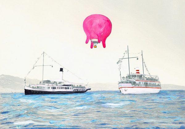 Bregenzer Luftspiele Euterballon wird zum Klangkörper - ein Luftkonzert über dem Lustschiff #historischeschifffahrtbodensee ...