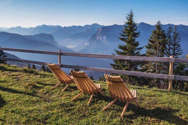 Bereit für einen entspannten Moment auf der Panorama Sonnenterrasse in Bezau❓ Einfach mal ...