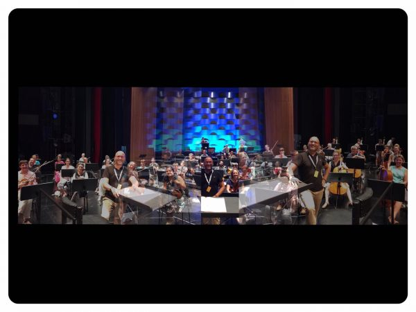Yesterday with Symphonieorchester Vorarlberg! Ok, I wanted to have all musicians into one ...