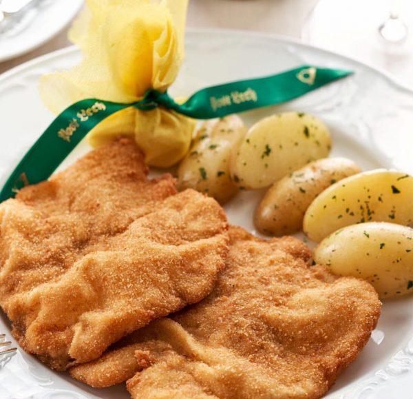 "For me one ""Schnitzel"" please 👋🏻 . Viennese escalope - enjoy typical Austrian ..."