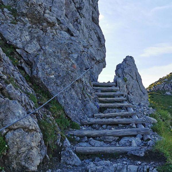 Über den Kanzelwandgipfel rüber zur Fiderepasshütte, ein absoluter Traum. 😎 . . . ...