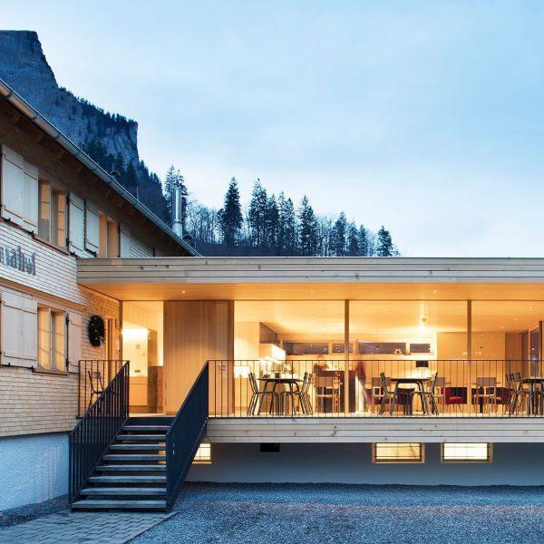 Hotel TANNAHOF in Au: ist ein kleines Hotel mit dem Charakter eines Bregenzerwälderhauses. Es ist zugleich modern...
