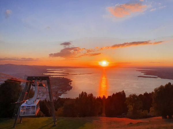 Den Wooow-Sonnenuntergang von gestern können wir euch unmöglich vorenthalten 😍 #pfänderbahn #pfänder #visitbregenz #lochau #bodenseevorarlberg #bodenseeliebe #bergliebe...