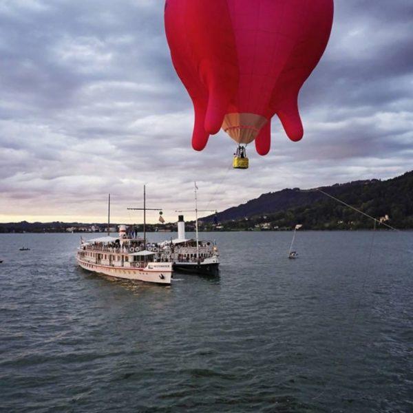 Am Sonntag starteten auf dem Bodensee die ersten Bregenzer Luftspiele. Mit dabei der ...