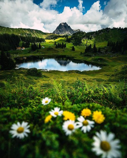 Körbersee, Vorarlberg 💐🌼 . The Körbersee is located in the federal state of ...