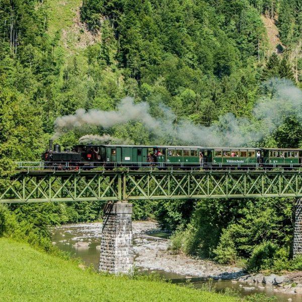 Wie wäre es mit einer Fahrt mit der historischen Museumsbahn? Das Wälderbähnle verkehrt ...
