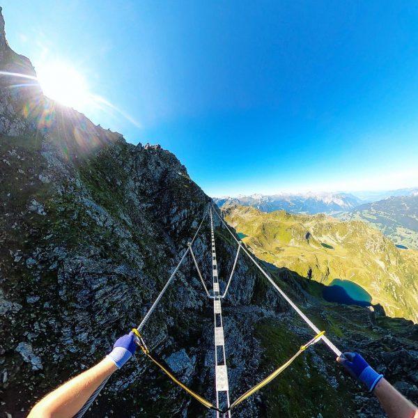 Klettersteig am Hochjoch . . . #visitaustria #enjoyaustria #visitvorarlberg #venividivorarlberg #meinmontafon #visitmontafon Hochjoch