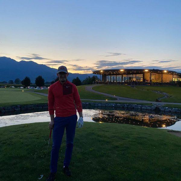 Supper Abendrunden mit @filip_zlatkovic, @oliver benz und @t.bitschnau mit einer herrlichen Kulisse #golf ...