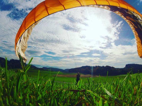 Ground handling #gleitschirm #bregenzerwald #paragliding Bodensee / Lake Constance