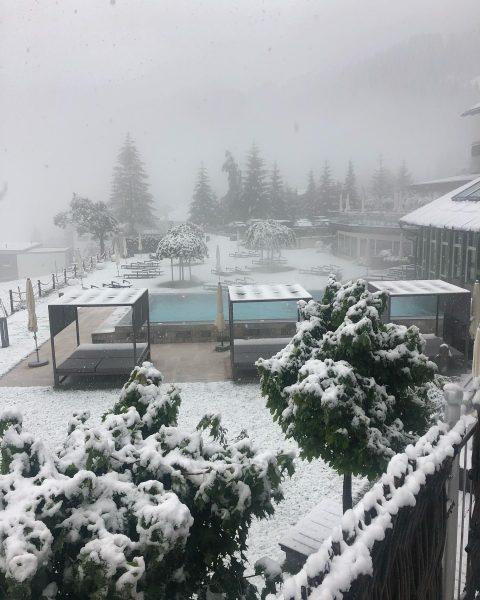 Heute genießen 😊 wir ... ein bisschen Vorfreude auf die weiße Winterpracht ❄️ ...