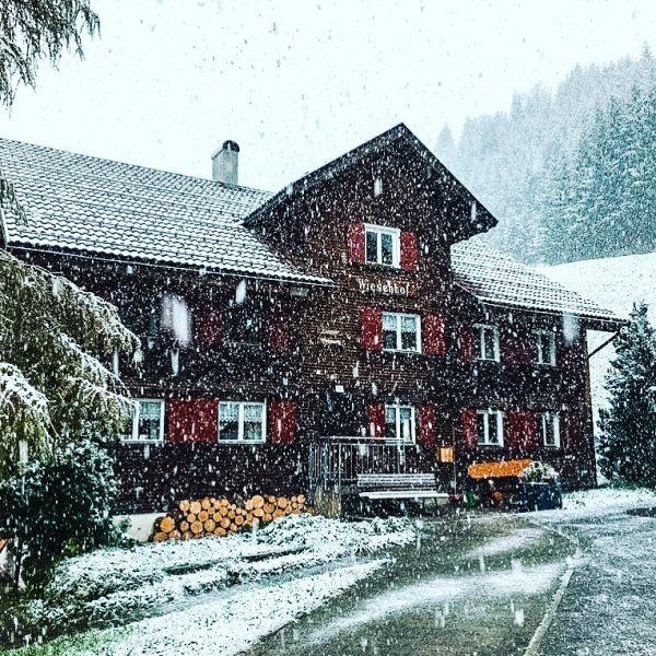 Der erste Schnee ist da ❄️❤️ #winteriscoming #snowflakes #bergweltm #atemderberge #warthschröcken #warthschroecken #arlberg #winter2020 #winterwonderland #schneezauber #snowsnowsnow...