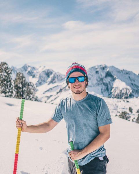 27.09.2020 first ski tour ☑️ #agaudewars @julian_fink #skitime #onskis #summervibes #summer Warth, Vorarlberg