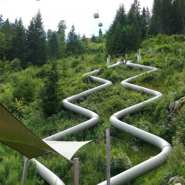 Der #erlebnisberggolm im #montafon bietet viel. Auch einen #rutschenpark Mit der #gondelbahn hoch ...