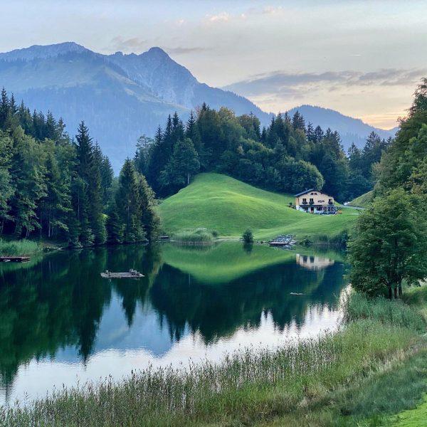 Mountain reflections ⛰ Bregenzerwald, Austria ———————— #hikingaustralia #hikingday #austriatravel #vorarlberg #vorarlbergwandern #bregenzerwald #mountainview ...