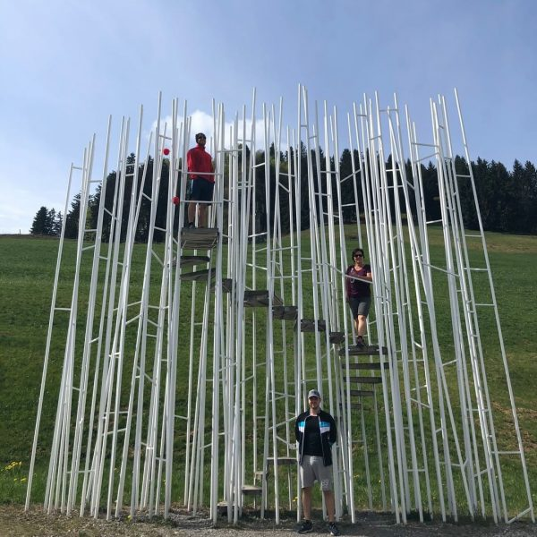"""BUS:STOP in Krumbach. Wie 7 """"Wartehüsle"""" Kultur, Wirtschaft und Architektur unter ein Dach bringen. 7 internationale Architektenbüros..."""